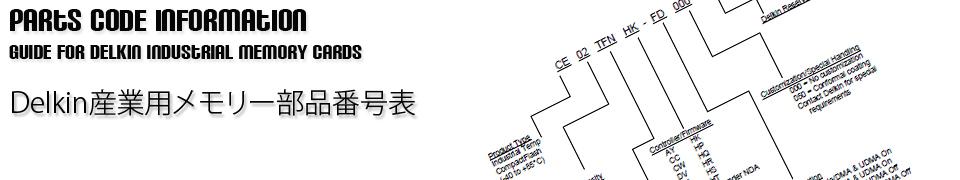 <h1>産業用/工業用フラッシュメモリーカード 部品番号の説明</h1>