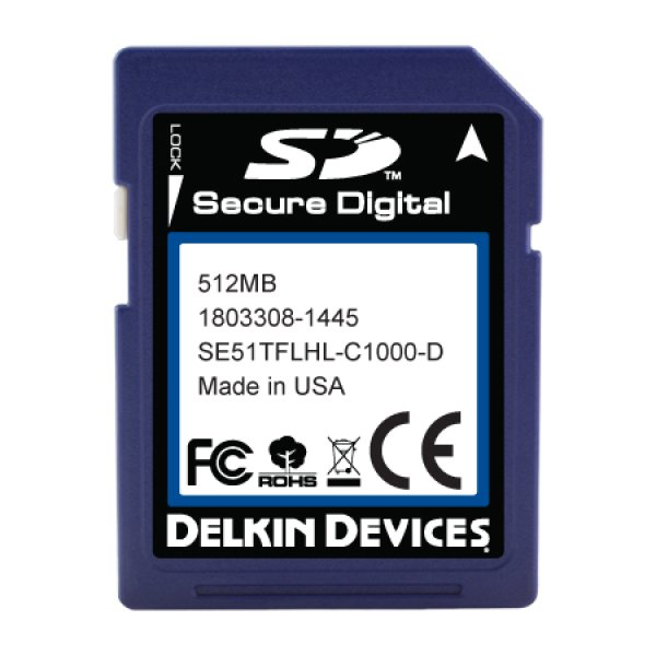 画像1: 512MB SD Industrial Ext Temp RoHS