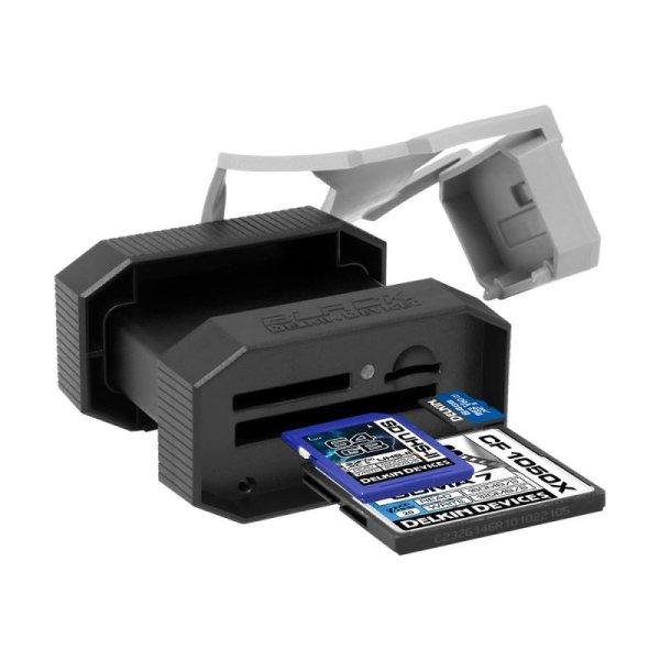 画像1: UDMA7 CF UHS-II SD/microSD対応 USB3.0 3スロットBlackカードリーダ  [DDREADER50]