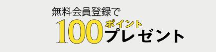 100ポイント進呈