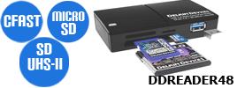 DDREADER44 CF/SDカードリーダ
