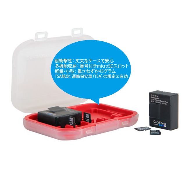 GoPro バッテリー microSDトート
