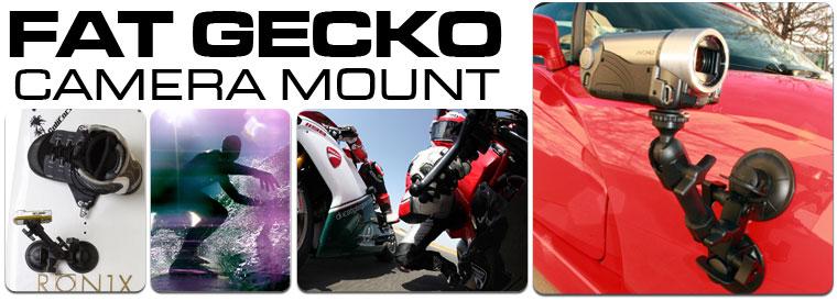 Fat Gecko 吸盤式カメラマウント アウトドアスポーツに最適