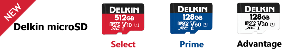 Delkin microSDカード 新ラインナップ