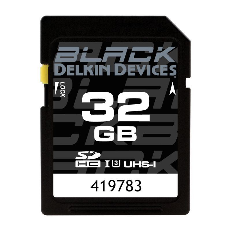 32GB BLACK SD UHS-I (U3/V30) SDカード