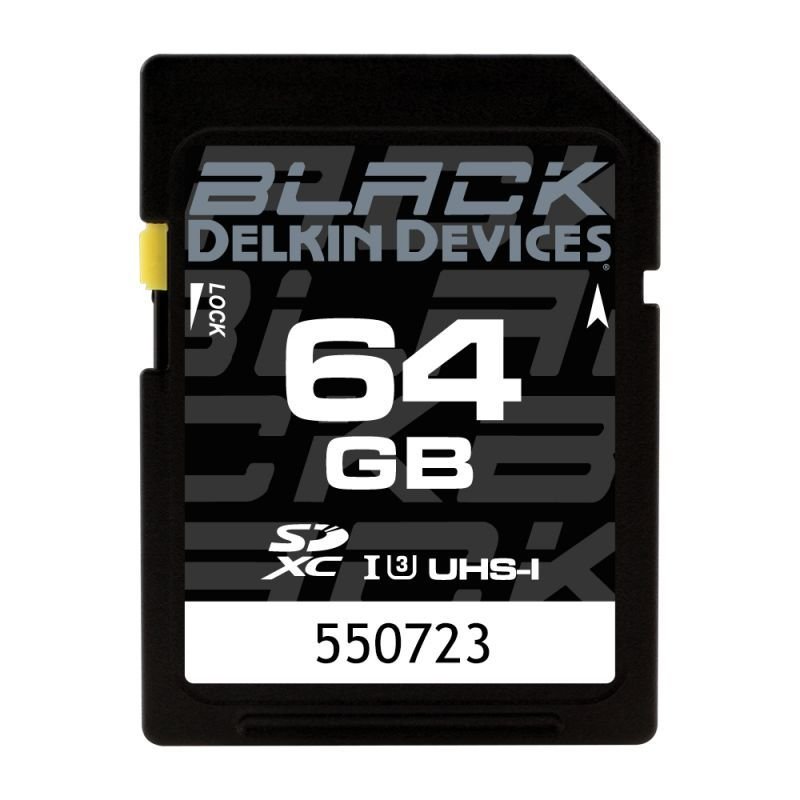 64GB BLACK SD UHS-I (U3/V30) SDカード