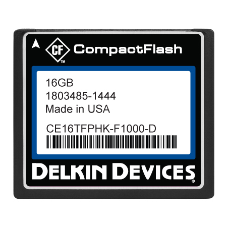 16GB CF (SLC) Industrial Ext Temp DMA-OFF Fixed Drive