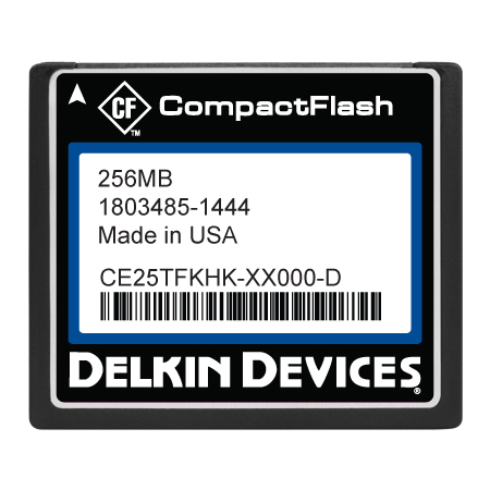 256MB CF (SLC) Industrial Ext Temp DMA-ON Removable Drive