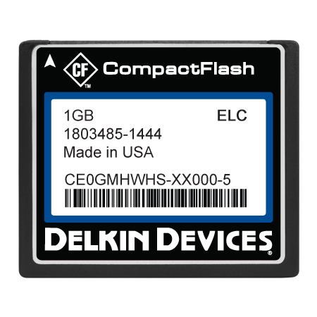 1GB CF SLC, Industrial Temp, Removable, DMA&UDMA-ON