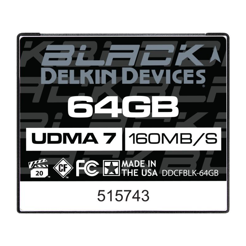 64GB BLACK CFカード UDMA7 [DDCFBLK-64GB]