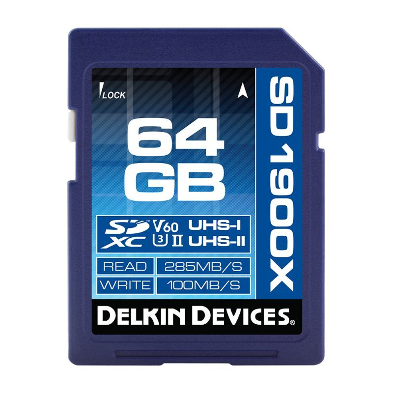 64GB SDXC 1900X UHS-I/UHS-II (U3/V60) SDカード