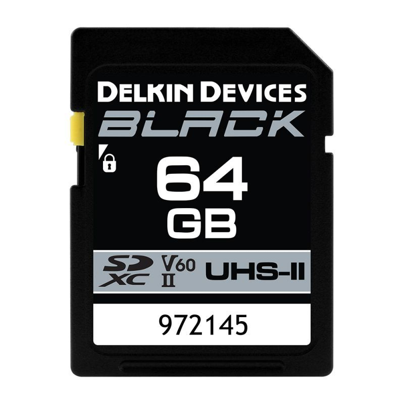 64GB BLACK SD UHS-II(U3/V60)メモリーカード