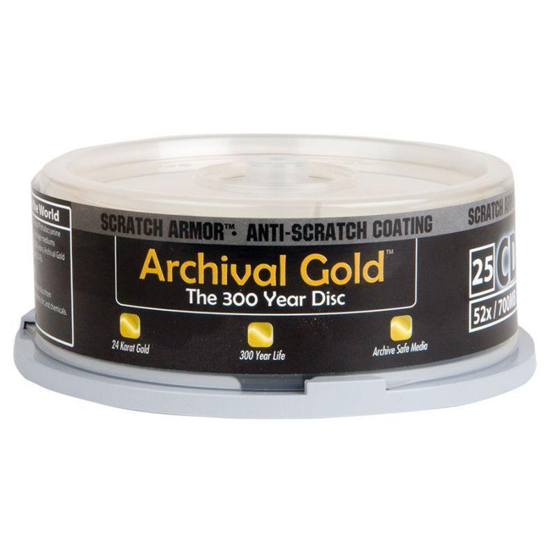 アーカイブゴールド スクラッチアーマー CD-R 25枚 スピンドル