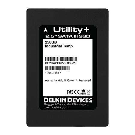 256GB SSD Utility+ MLC SATA III 2.5″ Ind Temp -40~+ 85°C