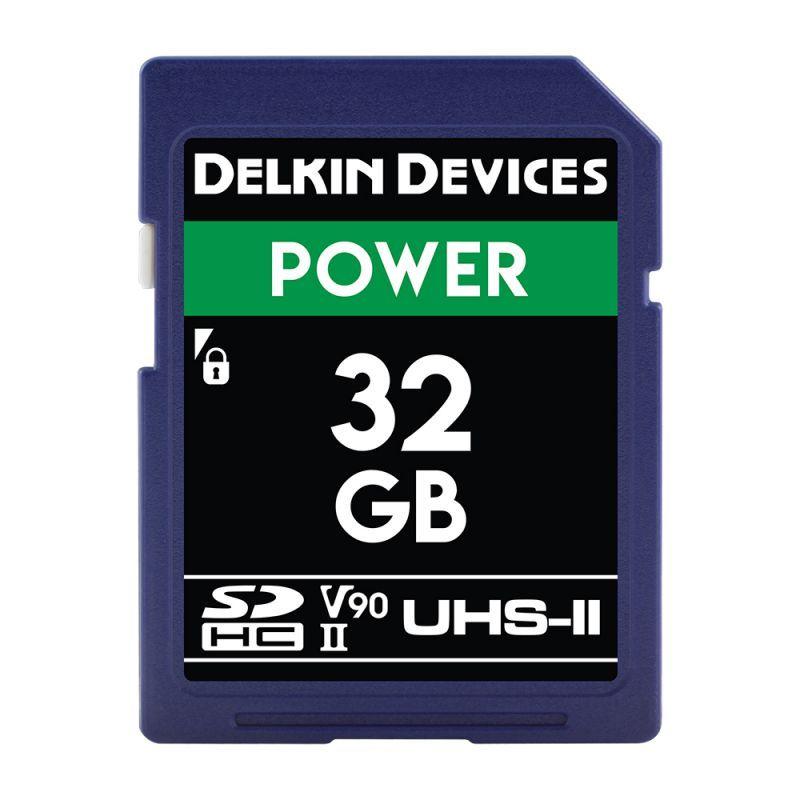 Delkin Devices 32GB POWER SDHC UHS-II (U3/V90) SDカード