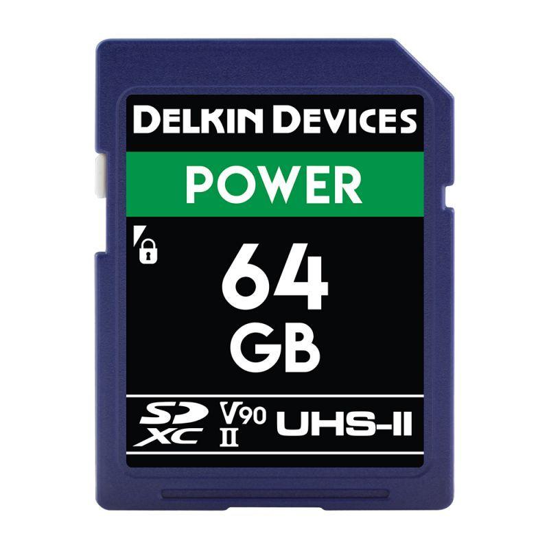Delkin Devices 64GB POWER SDXC UHS-II (U3/V90) SDカード