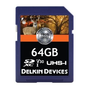 トレイルカム 64GB Class10/UHS-I (U1) SDカード