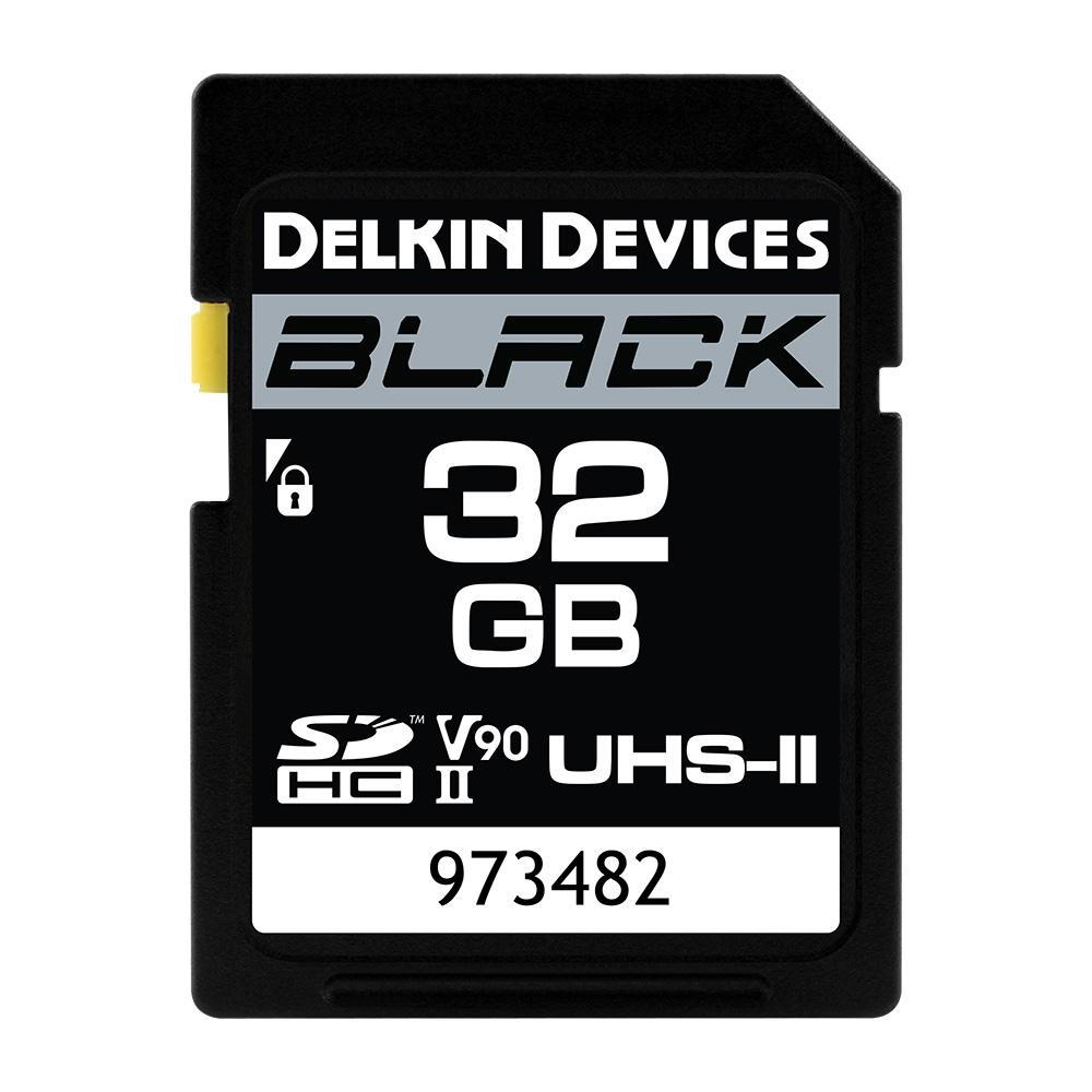 32GB BLACK SD UHS-II(U3/V90)メモリーカード